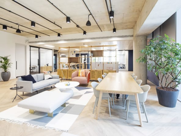 Flexible coworking office space at 245 Hammersmith Road by Hana and Industrious Office