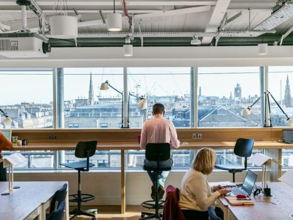 Coworking space at WeWork George Street Edinburgh