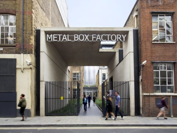 Flexible office space at Metal Box Factory in Southwark by Workspace Group